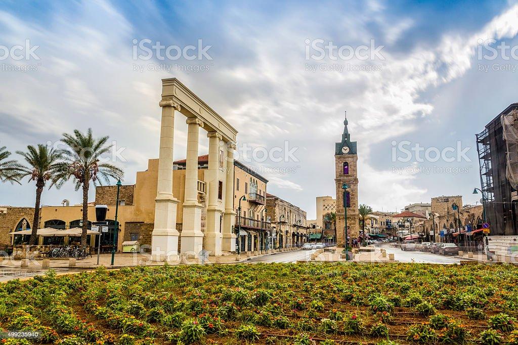 Historic city of Yafo, Israel stock photo