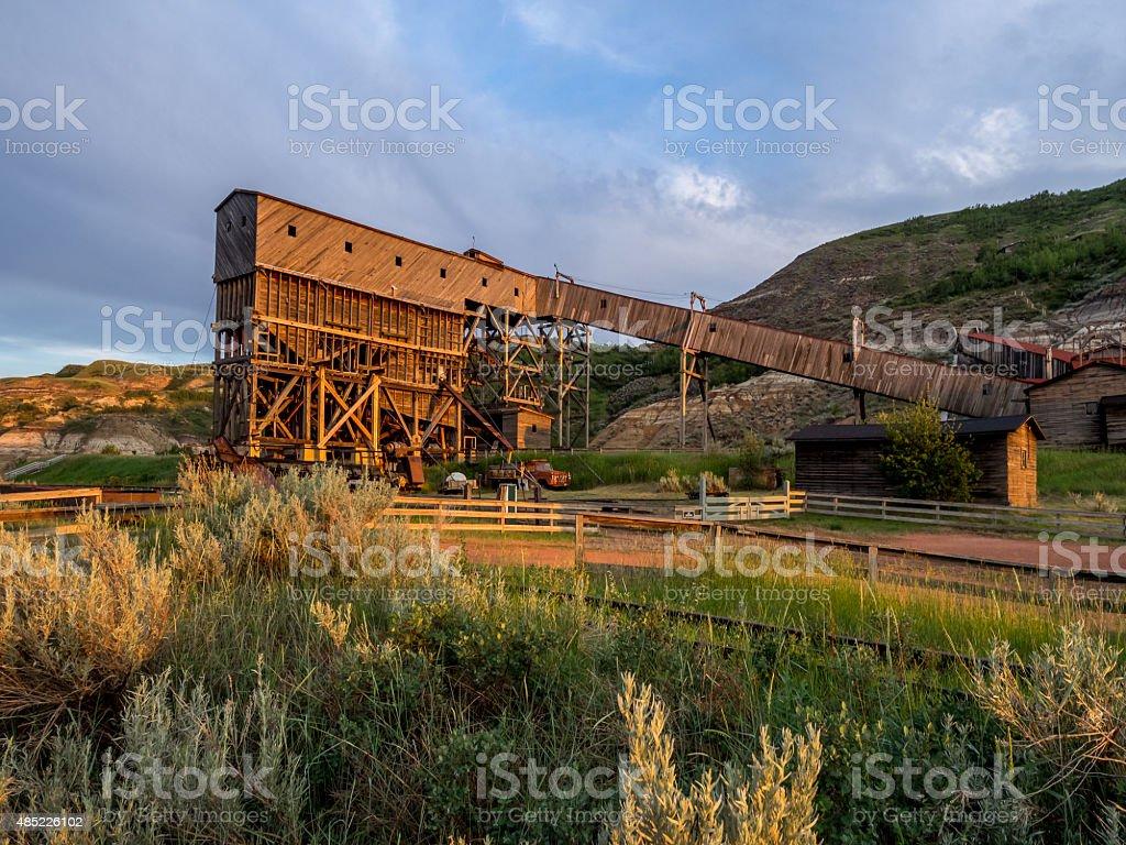 historic coal mine building stock photo