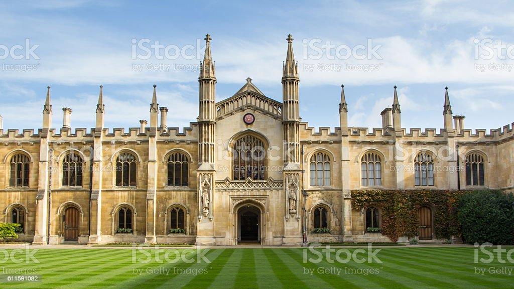 Historic  college building in Cambridge, United Kingdom stock photo