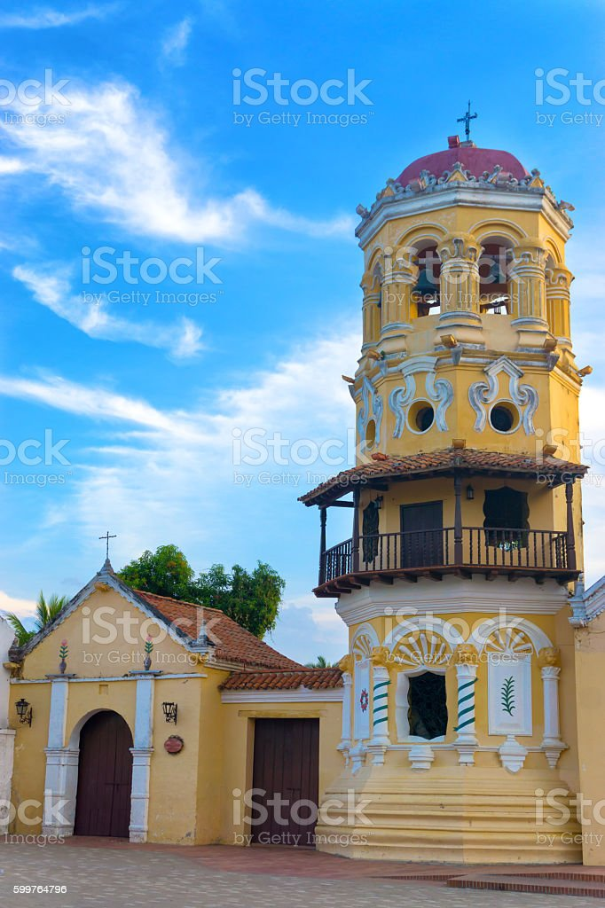 Historic Colonial Church stock photo