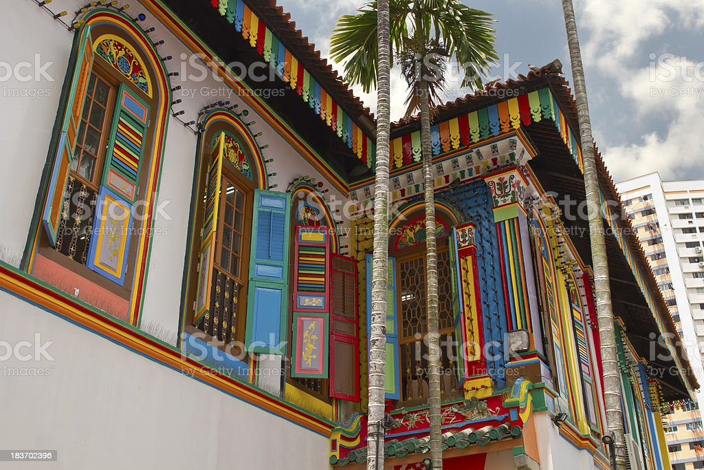 Historic Colorful Peranakan House 2 stock photo