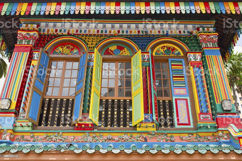 Historic Colorful Peranakan House stock photo