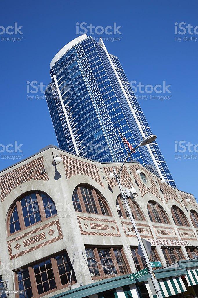 Historic Corner Market Building, Seattle Washington royalty-free stock photo