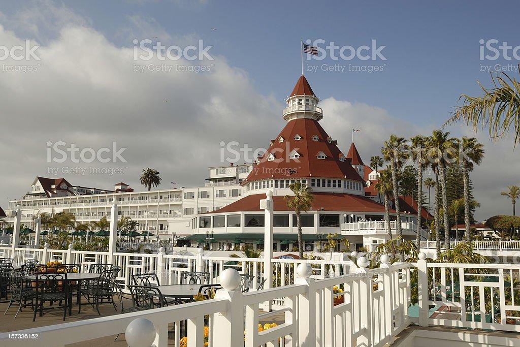 Historic Coronado Hotel stock photo