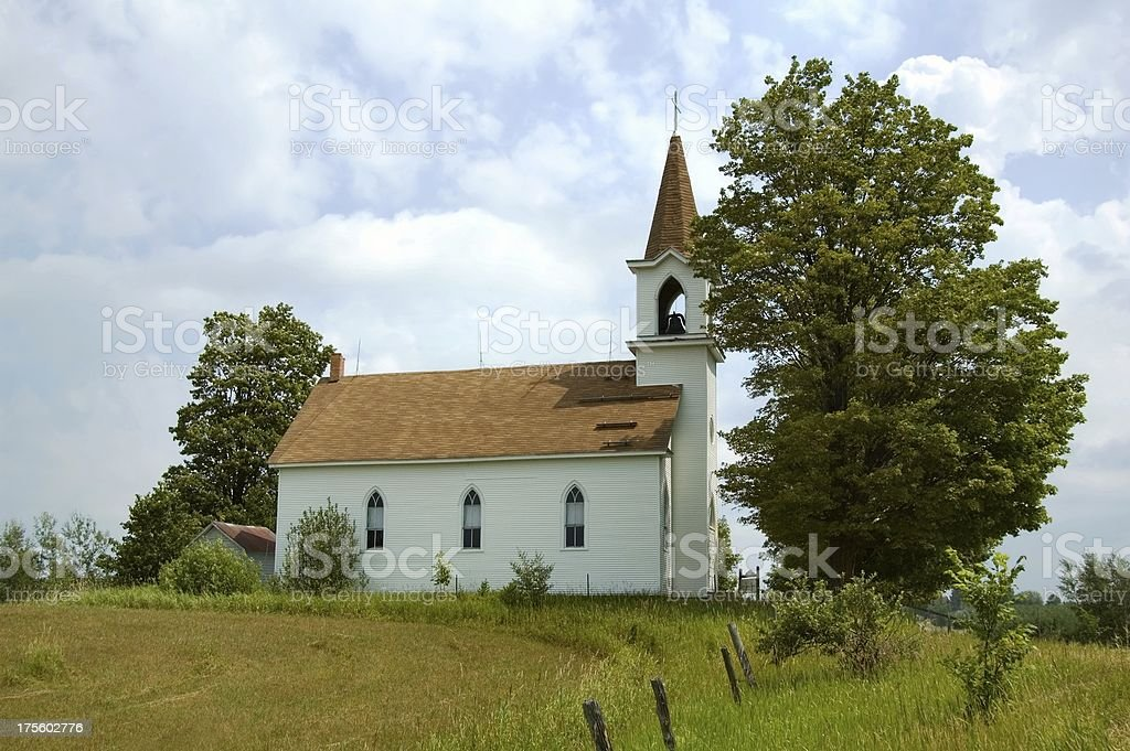 Historic Country Church royalty-free stock photo