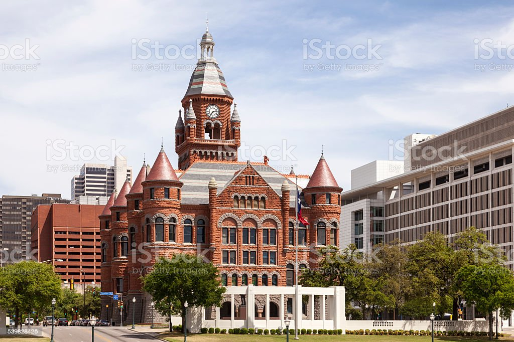 Historic Courthouse in Dallas, USA stock photo