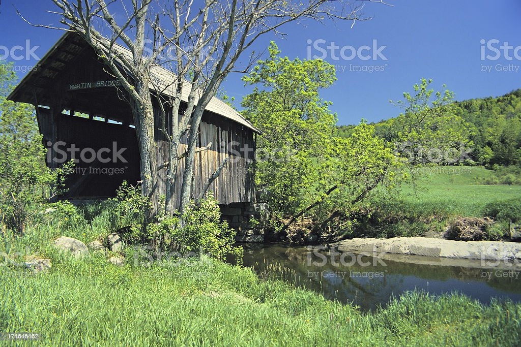 Historic covered bridge royalty-free stock photo