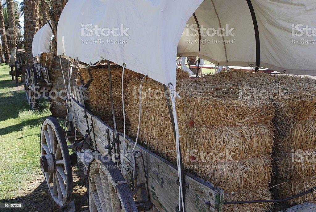 Historic Covered Wagon stock photo