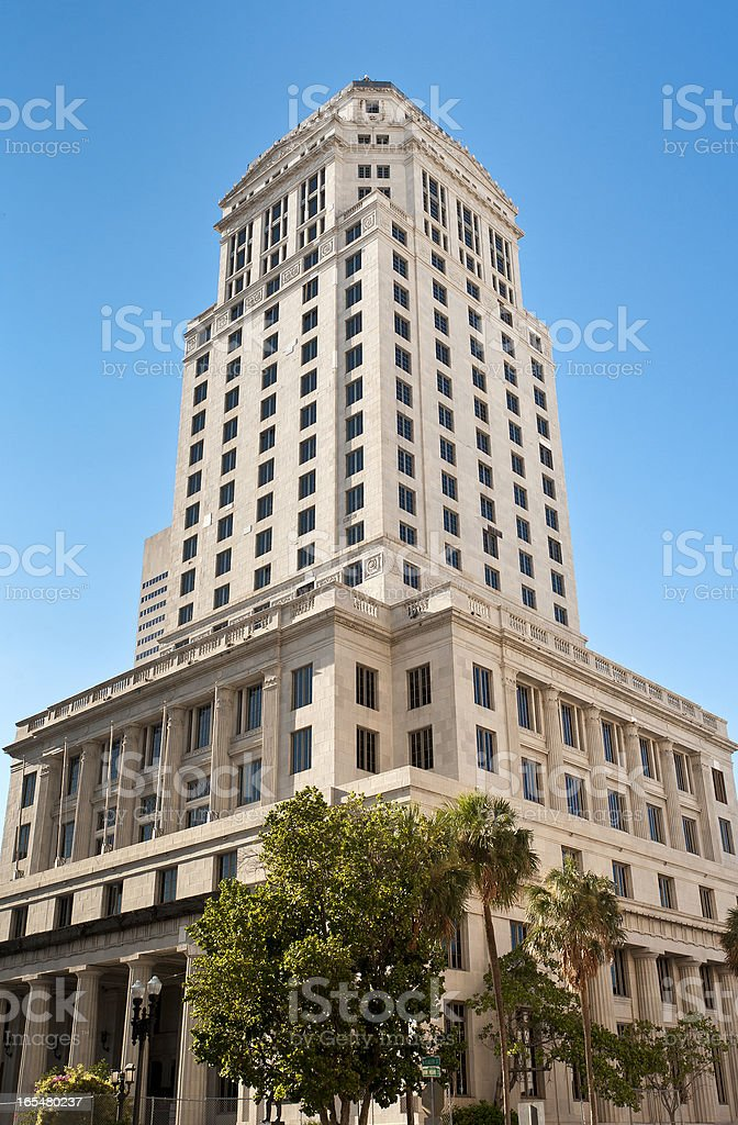 1925 Historic Dade County Court House royalty-free stock photo