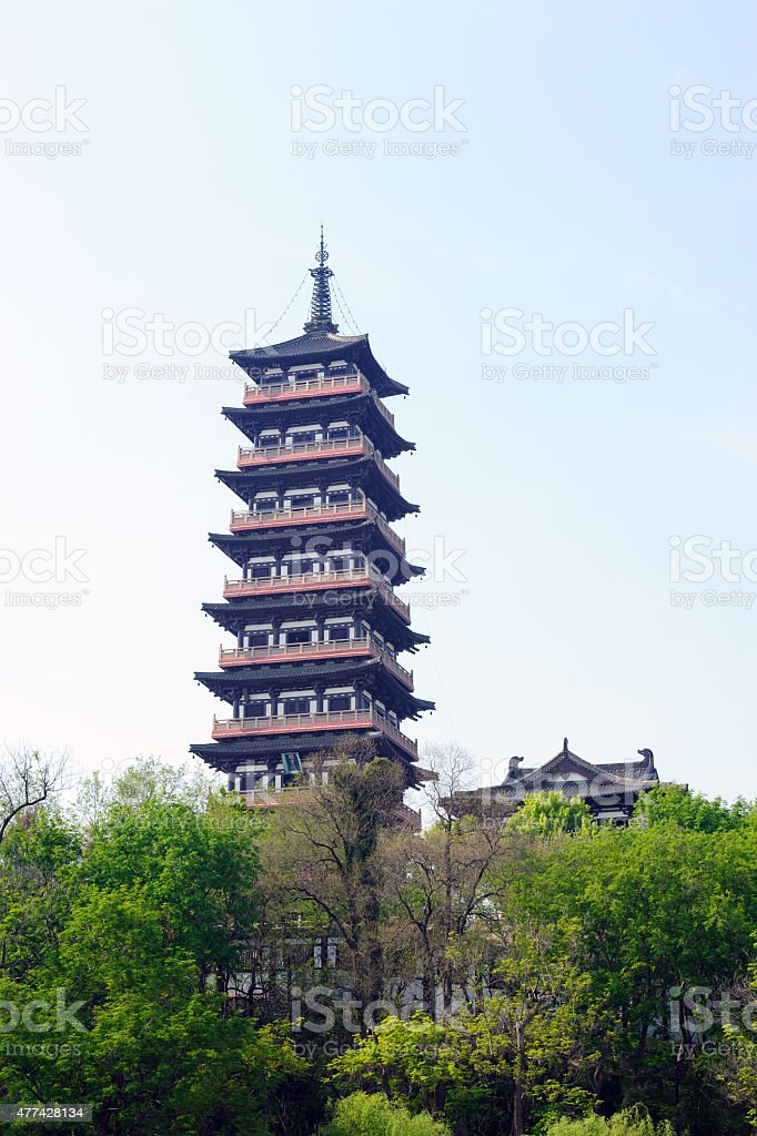Historic Daming Temple in Yangzhou China stock photo