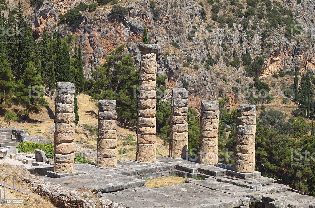 Historic Delphi ancient site in Greece stock photo