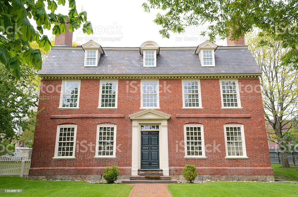 Historic Derby House stock photo