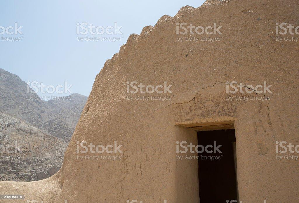 Historic Dhayah Fort, Ras al Khaimah stock photo