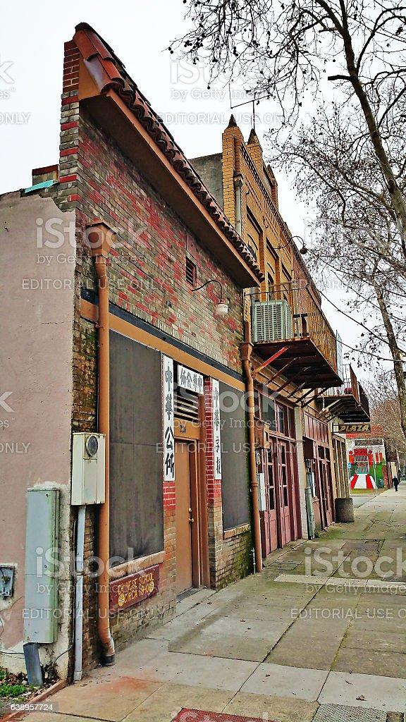 Historic District Marysville California stock photo