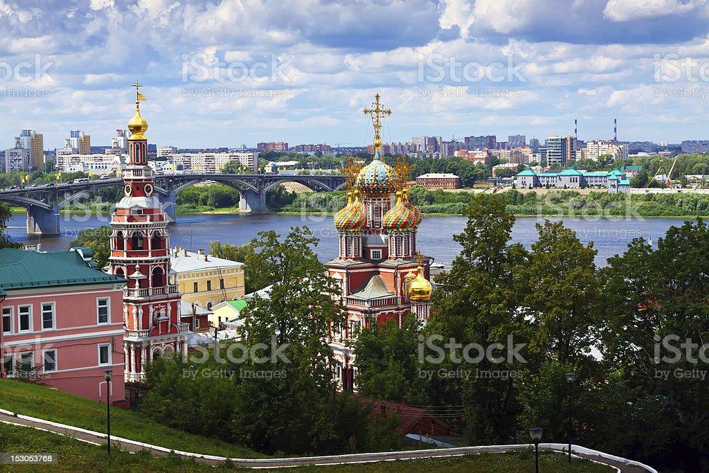 historic district of Nizhny Novgorod stock photo