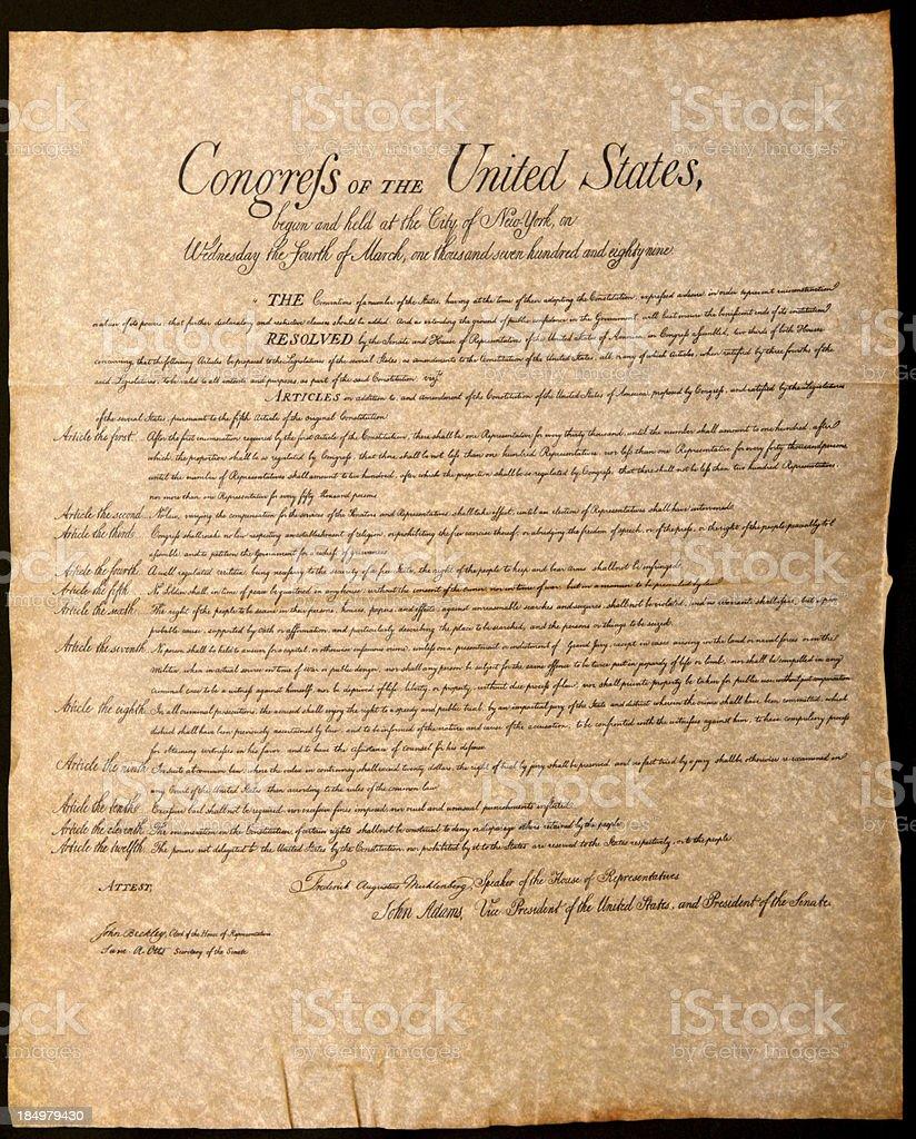 USA Historic Document stock photo