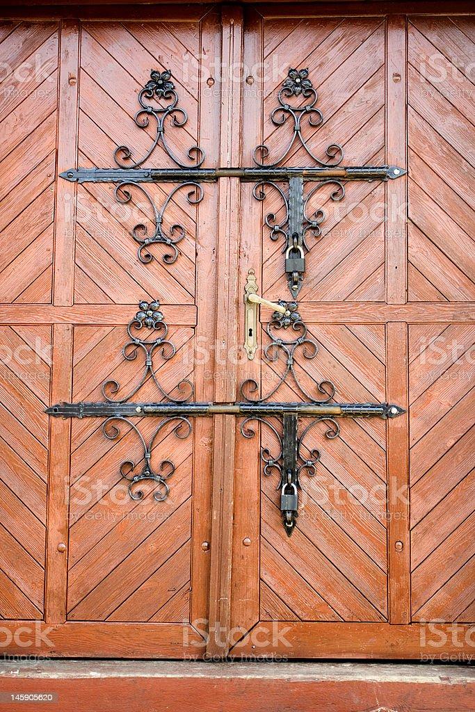 Historic doors and ferrules stock photo