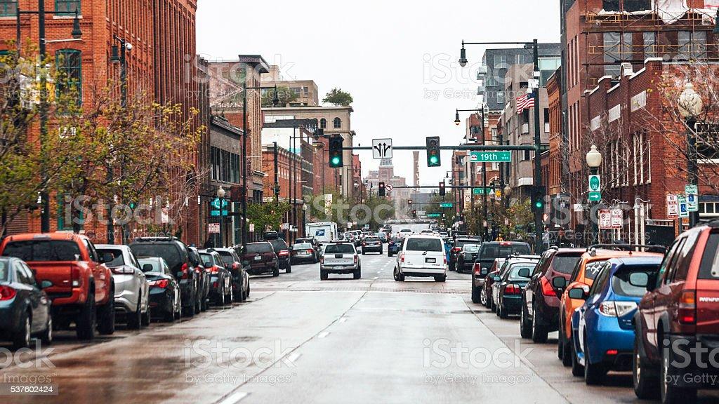 Historic downtown - Denver, Colorado. stock photo