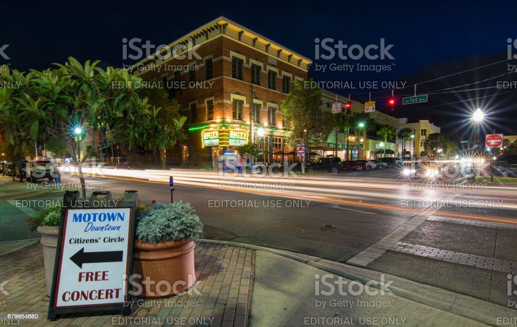 Historic Downtown Ocala Square stock photo
