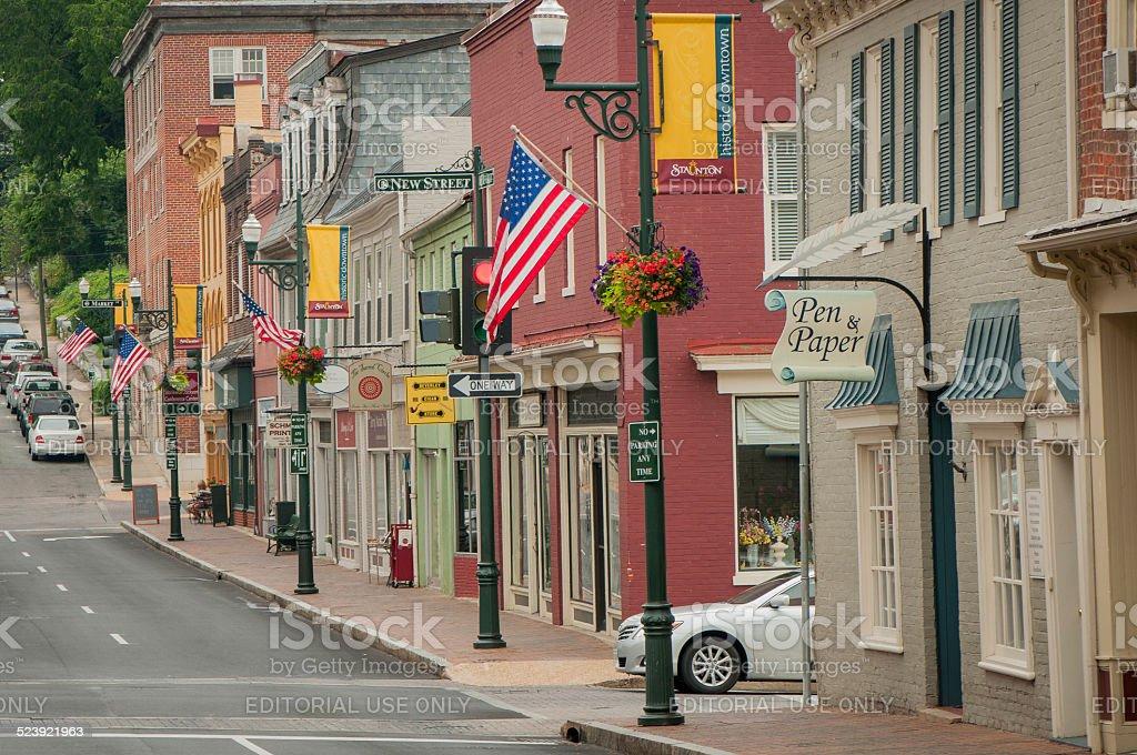 Historic Downtown stock photo