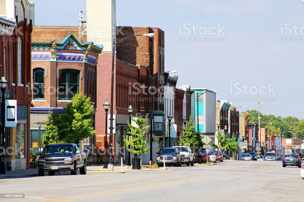 Historic Downtown Springfield Missouri stock photo