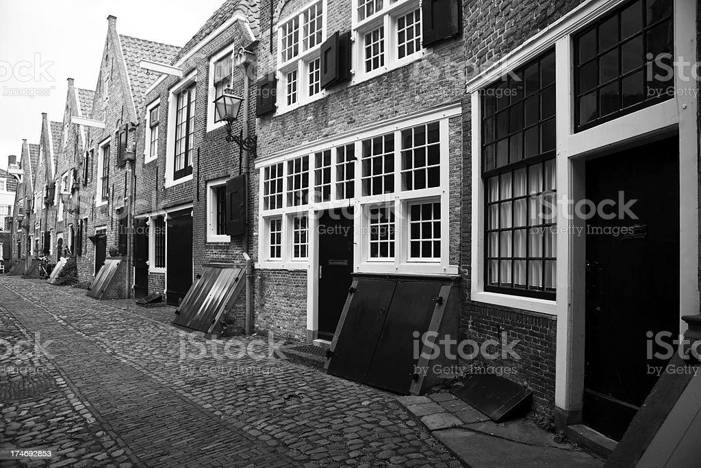 Historic Dutch Street stock photo