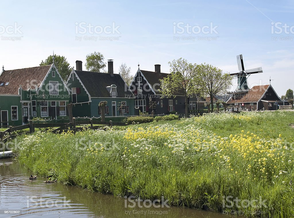Historic Dutch Village royalty-free stock photo