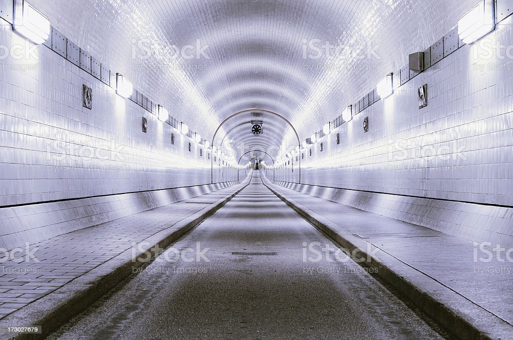 historic elbtunnel royalty-free stock photo