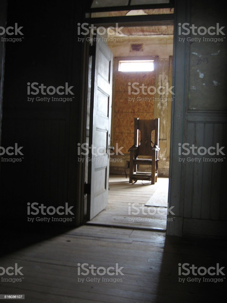 Historic Electric Chair stock photo