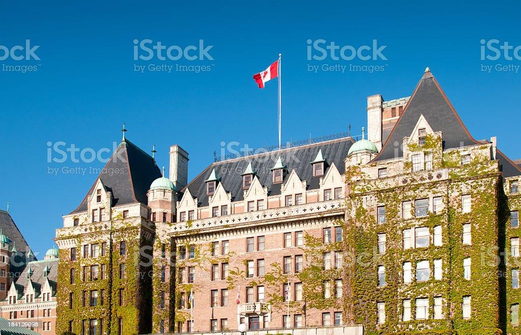 Historic Empress Hotel in Victoria, B.C. stock photo