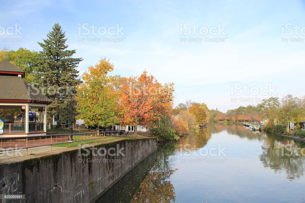 Historic Erie Canal in Fairport NY stock photo