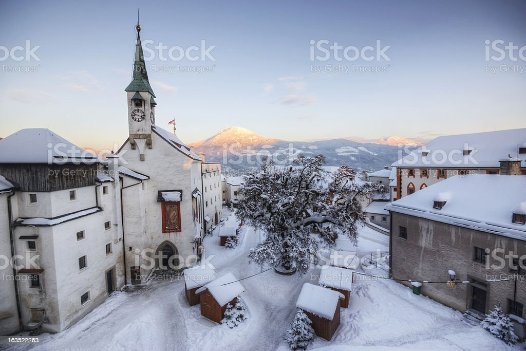 Historic European Winter stock photo