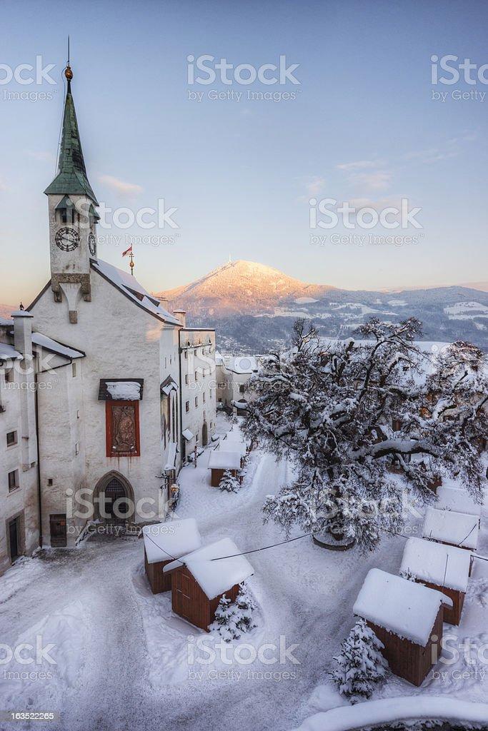 Historic European Winter royalty-free stock photo