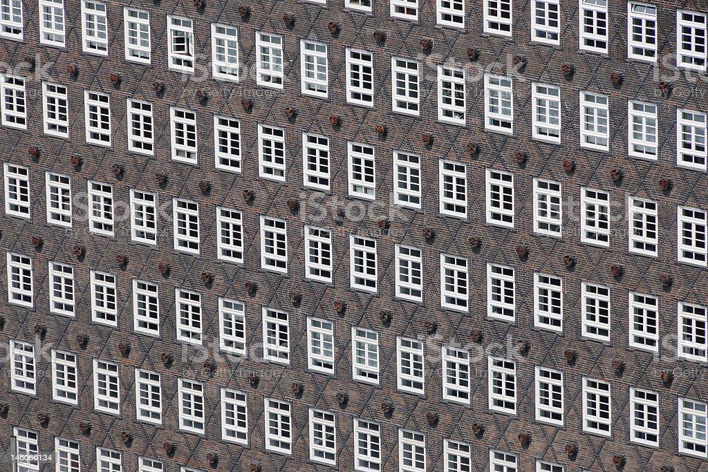 Historic facade in Hamburg royalty-free stock photo