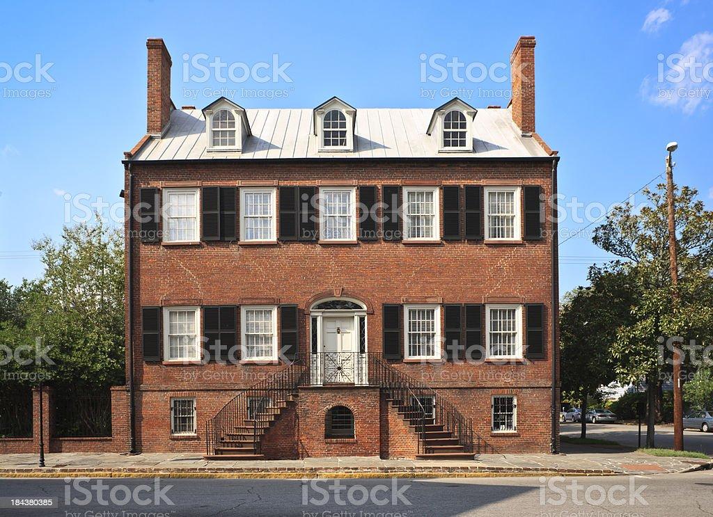 Historic Federal Style Home - Savannah, Georgia stock photo