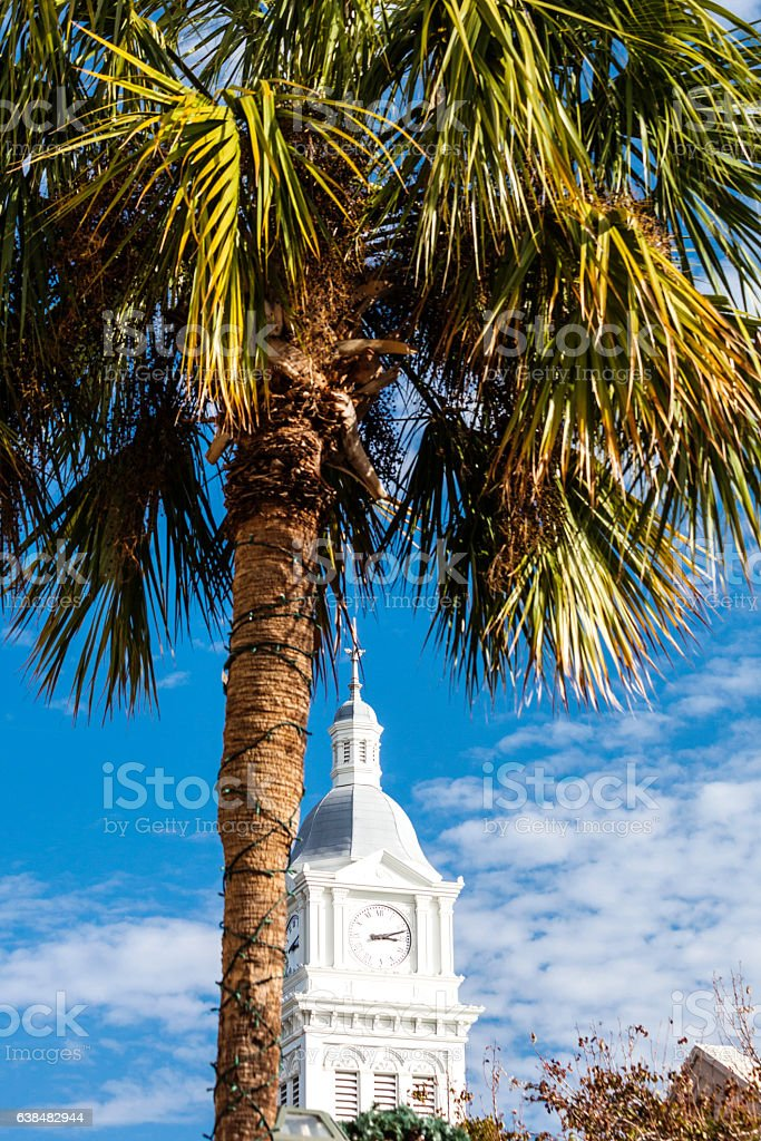 Historic Fernandina Beach, Florida. stock photo