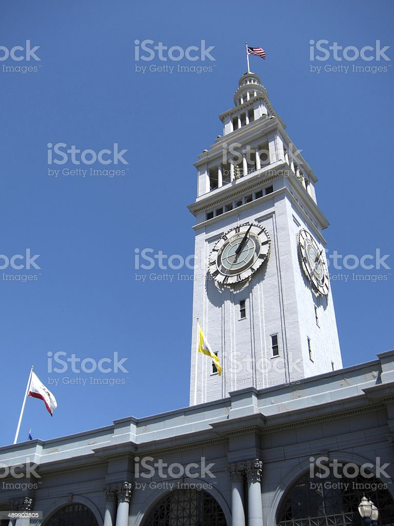 Historic Ferry Building in San Francisco, California stock photo