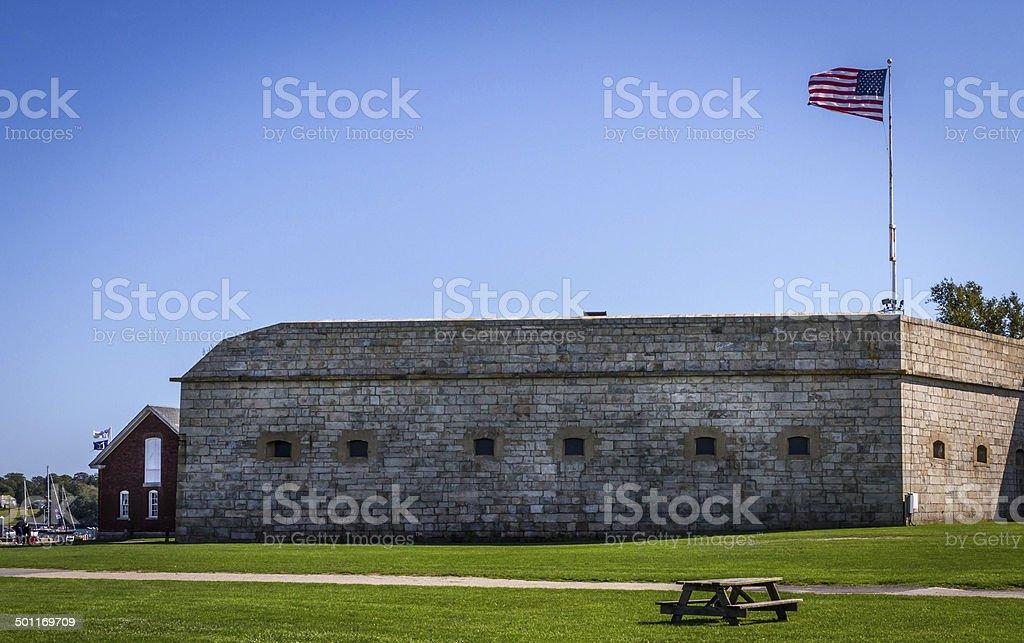 Historic Fort Adams, RI stock photo