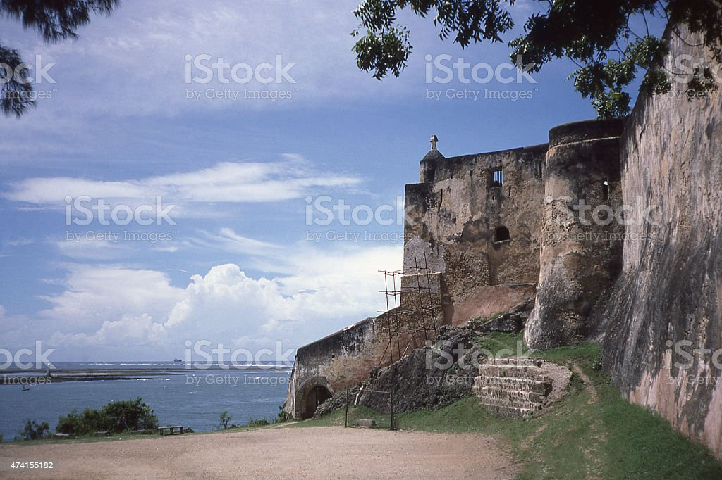 Historic Fort Jesus Portuguese 15th Century Mombassa Kenya East Africa stock photo