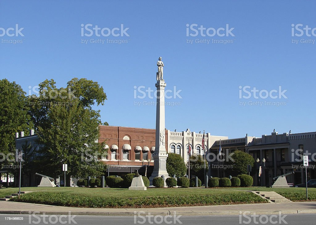 Historic Franklin Tennessee Town Square stock photo