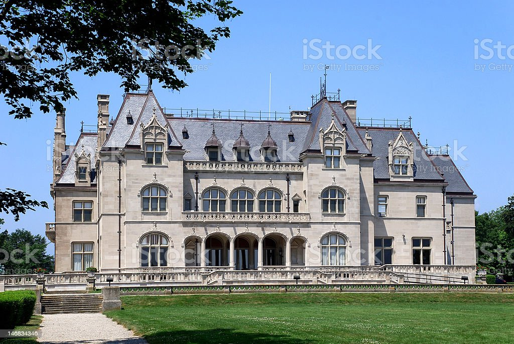 Historic French Style Mansion stock photo