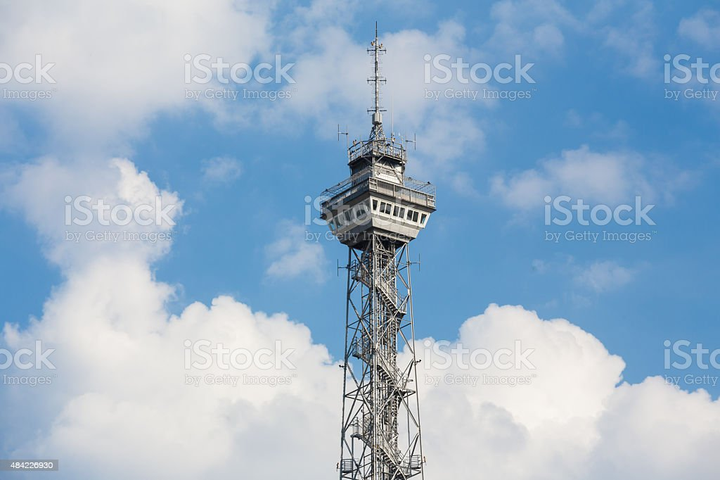 historic funkturm tower berlin germany stock photo