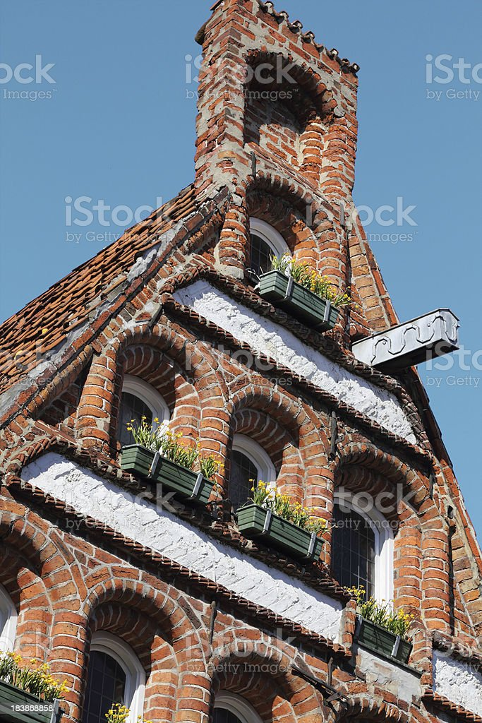 Historic gable, Lüneburg royalty-free stock photo