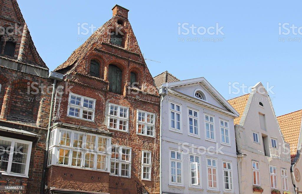 Historic gables, Lüneburg stock photo