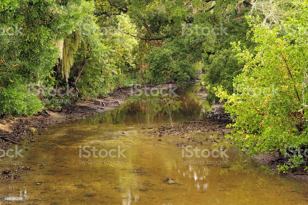 Historic Gabordy Canal stock photo