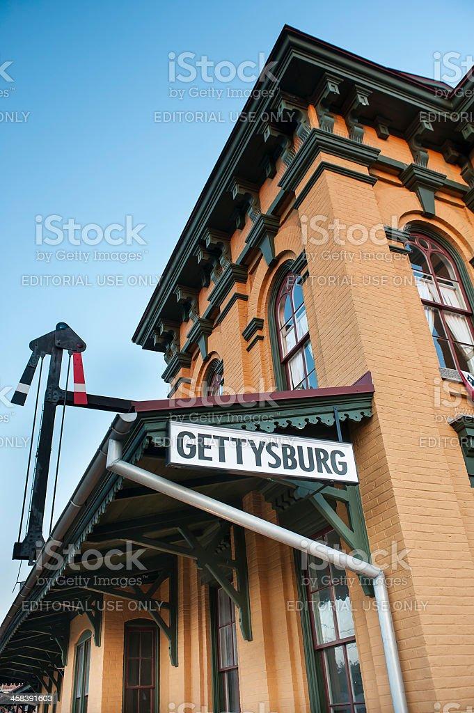 Historic Gettysburg Railroad Station stock photo