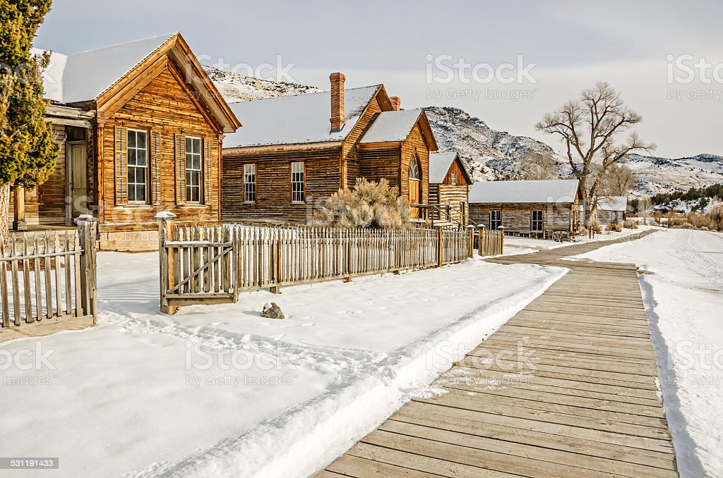 Historic Ghost Town stock photo