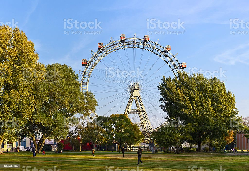 Historic giant-wheel of Vienna stock photo