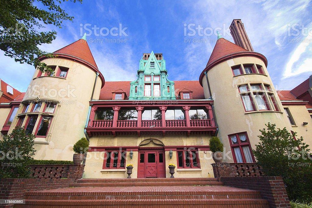 Historic Gold Coast Mansion stock photo
