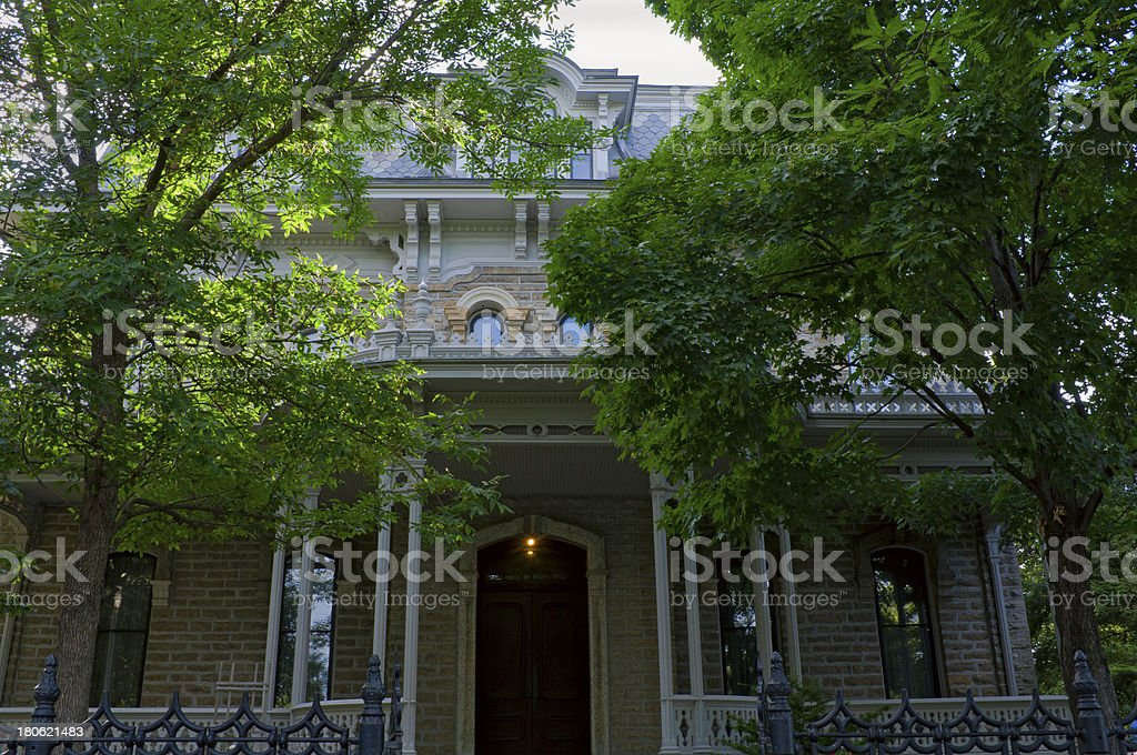 Historic Governor Mansion in Saint Paul royalty-free stock photo